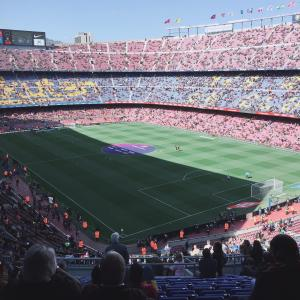 いよいよFCバルセロナ、メッシの試合観戦!