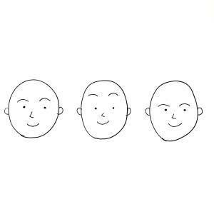 年代別?眉の形の傾向。