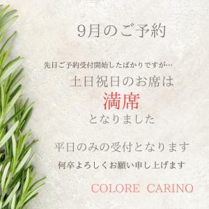 【9月ご予約】土日祝日満席!平日のみの受付となります。