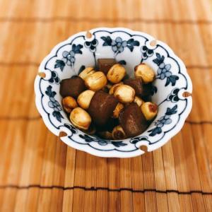 蓮(はす)の実とこんにゃくの炒め煮