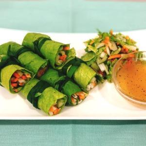 ベトナム風 からし菜のロールサラダ