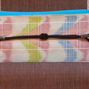 帯の垂れ、どちらがお好み?関西風関東風。本場結城紬に浅倉さんの帯でー