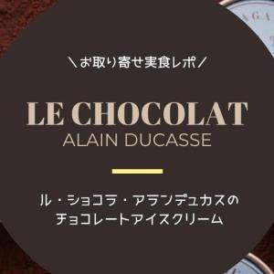 ル・ショコラ・アラン・デュカスのグラスはチョコ好き必見の高級アイスクリーム