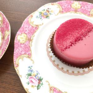 お気に入りプレート♡ルビーチョコレートケーキ♡のんびりお茶時間