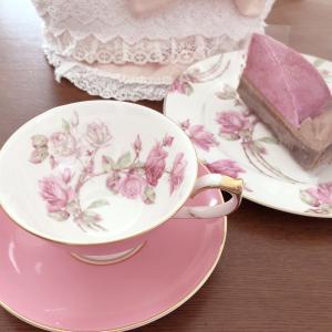 カシスのケーキ☆お茶の時間とレターセット