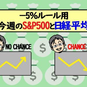 -5%ルール用・今週のS&P500と日経平均(8/10~)