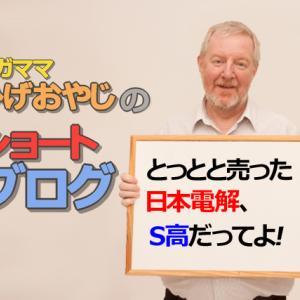 ショートブログ「とっとと売った日本電解、S高だってよ!」