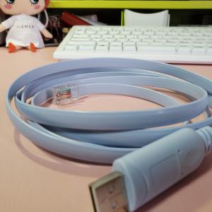 USB RJ45 シリアル コンソールケーブルを繋いで設定する