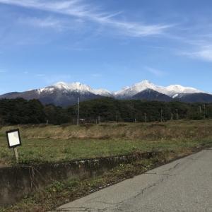 八ヶ岳初冠雪