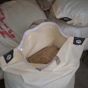 お米と薪の物々交換