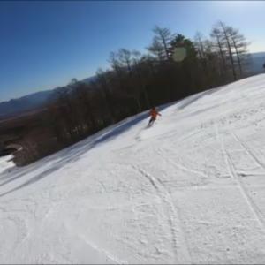 初のスキー動画を撮りました