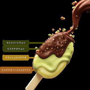はむっと食感 パルム ダブルチョコ ピスタチオ&チョコレート