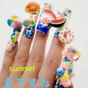 京都は猛暑日!夏ネイル
