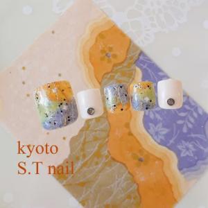 和紙イメージのネイル
