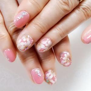 ジェルネイル いろいろなピンク