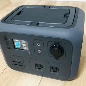 【キャンプ】非常用にも!!オシャレで高性能なポータブル電源『PowerArQ2』を買ってみた!!