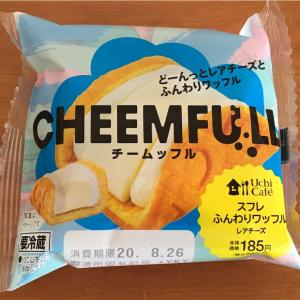 【レビュー】ローソン スイーツ どーんっとレアチーズとふんわりワッフル これおすすめです!!