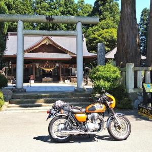 總宮バイク神社 コロナ退散祈願参拝  冷やし中華は幻と化した・・・110km駆けて行ったのに🏍