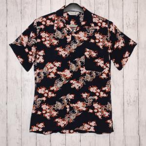 アロハシャツ Thruxton 龍と桜の和柄