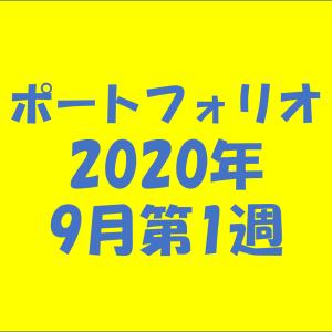 【資産状況】ポートフォリオ2020年9月第1週