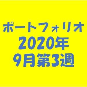 【資産状況】ポートフォリオ2020年9月第3週
