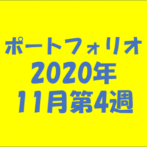 【資産状況】ポートフォリオ2020年11月第4週
