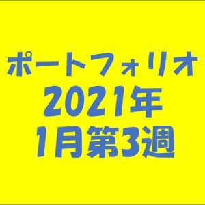 【資産状況】ポートフォリオ2021年1月第3週