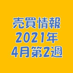 【売買情報】2021年4月第2週の取引内容