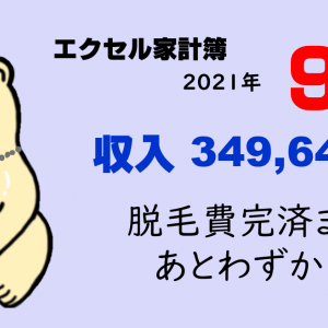【家計簿】札幌一人暮らしのお金事情|2021年9月まとめ