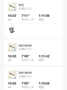 352日目(久しぶりに10km走りました)