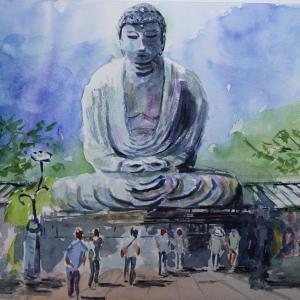 鎌倉大仏を描きました