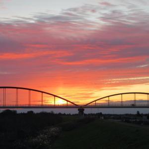 【早朝サイクリング】美しい夜明けの荒川水管橋