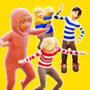 5人の子供達、それぞれの個性|カルダモン一族の野望 第51話【シムズ4 】