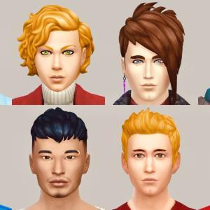 筋肉画像つき💪イケメンデフォシムカタログ|初心者ユーザー向け【Sims4】