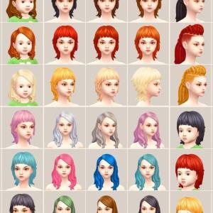 髪型全カラー制覇!PARANORMAL STUFF PACK #1|DLCであそぶ【Sims4】