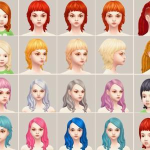 髪型全カラー制覇!PARANORMAL STUFF PACK #1 DLCであそぶ【Sims4】