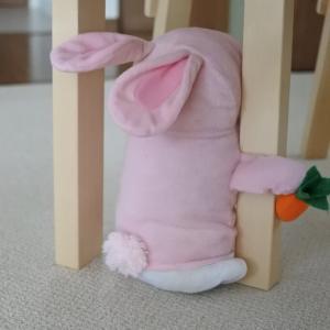 おとと、おもちゃのウサギさん。