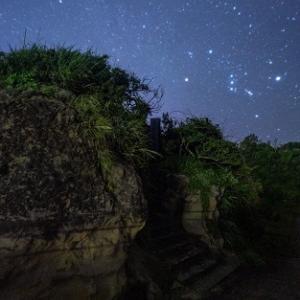遺跡で見る星空