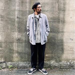 春先に使えるEddie Bauer(エディー・バウアー)のリネンワークジャケット【古着・メンズファッション】