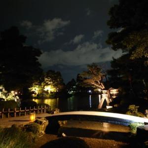 夜の兼六園を撮ってみた