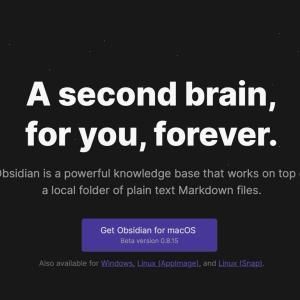 第2の脳をうたうObsidianをインストールしてみた