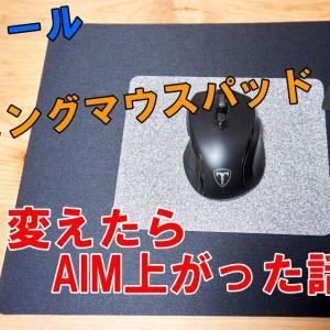 「ロジクールG240」ゲーミングマウスパッドに変えたらAIM上がった話
