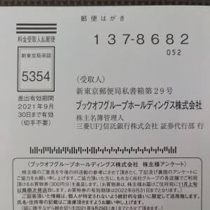 【アンケートは要返送】ブックオフから株主優待をGET!