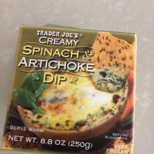 トレジョのおすすめ Creamy Spinach&Artichoke Dip♪