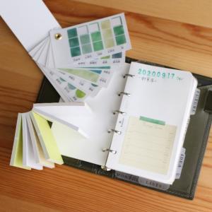 ふせんのサイズが、マイクロ5システム手帳にぴったり!デコるの楽しい(>ω<〃)~♡