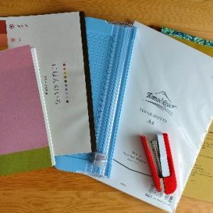トモエリバーで、トラベラーズノートレギュラーサイズのノートを手作りました!道具は、百円均一で揃います!
