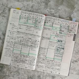 「ジブン手帳の中身紹介!食事内容&体調管理のみを記録しています!複数の手帳を、記録したい内容で分けて使っています!あと、細かく手帳に記録したいときは、ペンなど使う道具を少なくすると、続けやすかったです!✨」
