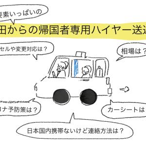 コロナ渦帰国備忘録 成田からのハイヤー手配キャンセルポリシーや値段の相場