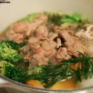 鶏手羽元と ありあわせの野菜で ポトフ風煮込みを作る