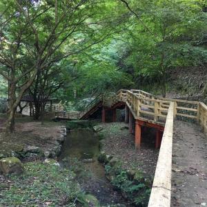 山口県美祢市 水神公園 綺麗な水の流れを見ながら一休み♪